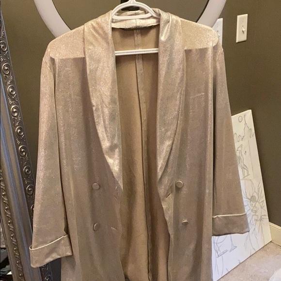Silver blazer